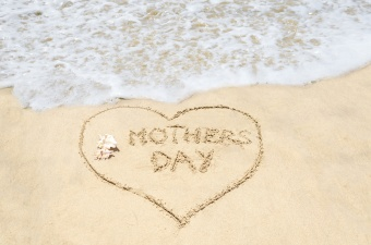 Mothers day background on the beach